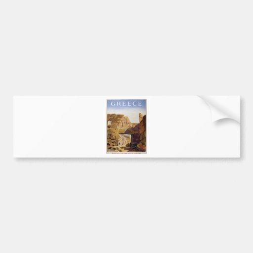 Old Advert Greece Mycenae Gate Of Lionesses Bumper Sticker
