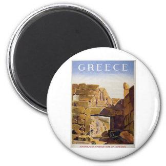 Old Advert Greece Mycenae Gate Of Lionesses Magnet
