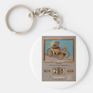 Old Advert Greece Peugeot Keychain