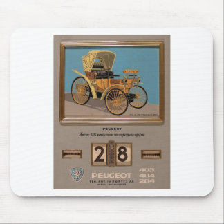 Old Advert Greece Peugeot Mouse Pads