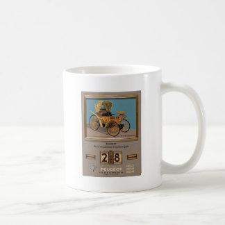 Old Advert Greece Peugeot Coffee Mug