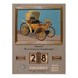 Old Advert Greece Peugeot Postcards