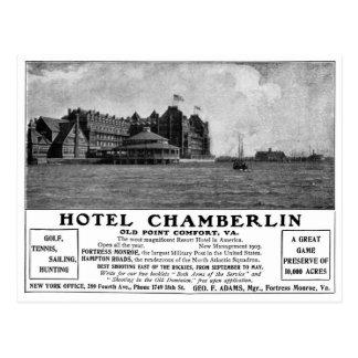 Old Advert Hotel Chamberlin Postcard