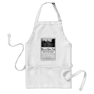 Old Advert How to Grow Tall Adult Apron