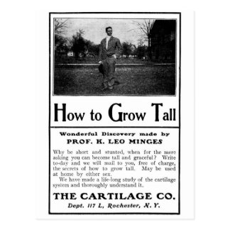 Old Advert How to Grow Tall Post Cards