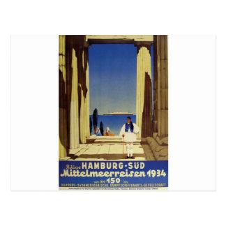 Old Advert Humburg Greece Post Card