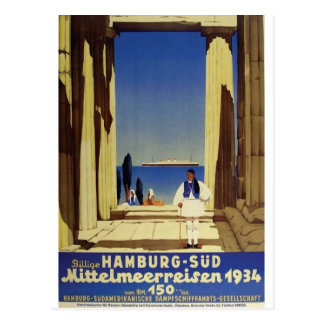 Old Advert Humburg Greece Post Cards