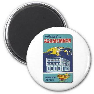 Old Advert Nafplio Greece Hotel Agamemnon Magnet