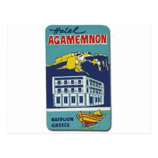 Old Advert Nafplio Greece Hotel Agamemnon Postcards