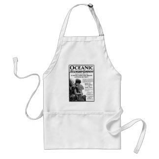 Old Advert Oceanic Steamship Company Adult Apron
