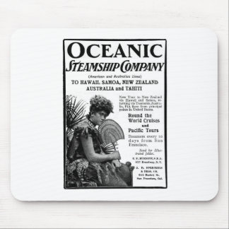 Old Advert Oceanic Steamship Company Mouse Pad