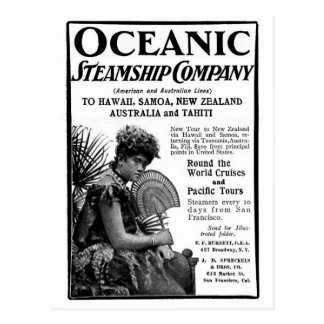 Old Advert Oceanic Steamship Company Postales