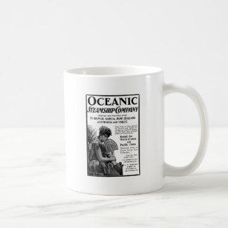 Old Advert Oceanic Steamship Company Taza De Café