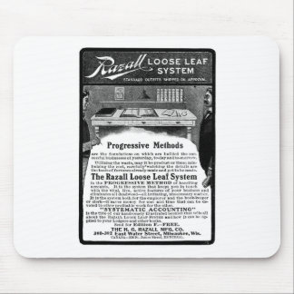 Old Advert Razall Loose Leaf System Mouse Pad