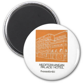 Old Advert Thessaloniki Mediterranian Hotel Greece Magnet
