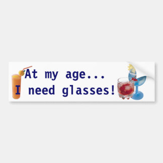 Old Age Bumper Snicker Bumper Sticker