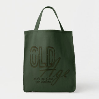 Old Age - Grocery Tote Canvas Bags