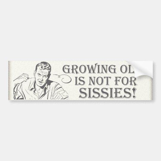 Old Age Humor Bumper Sticker