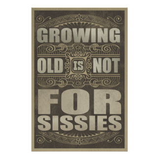 Old Age Humor Poster