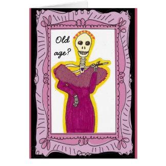 Old Age Skeleton Birthday Card