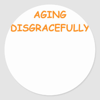 old age round stickers