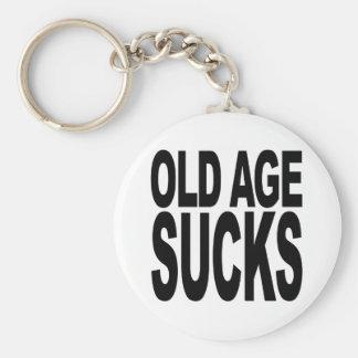 Old Age Sucks Keychain