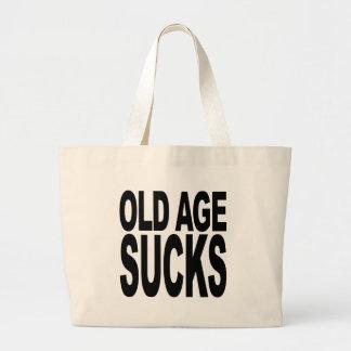 Old Age Sucks Large Tote Bag