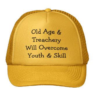 Old Age & TreacheryWill OvercomeYouth & Skill Trucker Hat