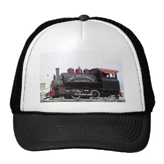 Old Alaska Railroad steam engine, Anchorage, AK Hats