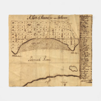 Old Alexandria VA Map by George Washington (1749) Fleece Blanket