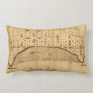 Old Alexandria VA Map by George Washington (1749) Lumbar Pillow