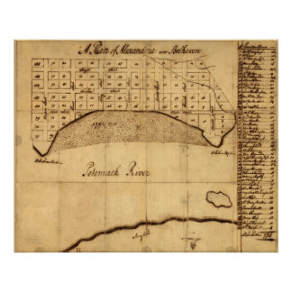 Old Alexandria VA Map by George Washington (1749) Poster