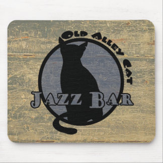 Old Alley Cat Jazz Bar Mouse Pad