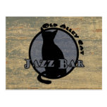 Old Alley Cat Jazz Bar Postcard