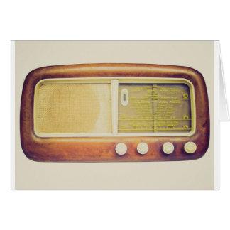 Old AM radio tuner Greeting Cards