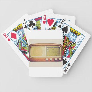 Old AM radio tuner Poker Deck