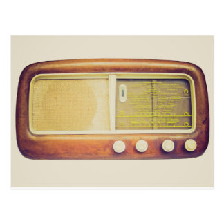 Old AM radio tuner Postcards