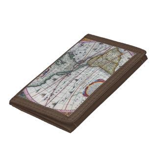 Old America Maps Tri-fold Wallets