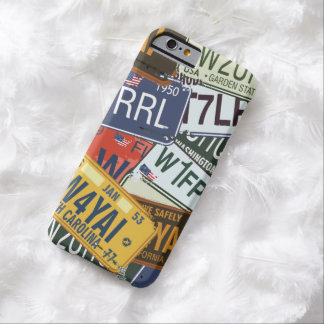 Old American Car Licence Plates Barely There iPhone 6 Case