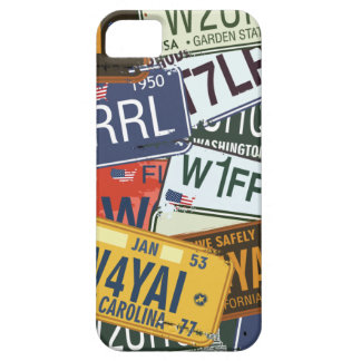 Old American Car Licence Plates iPhone 5 Case