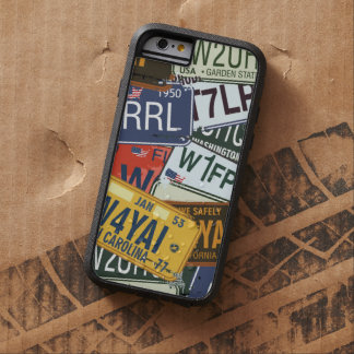 Old American Car Licence Plates Tough Xtreme iPhone 6 Case