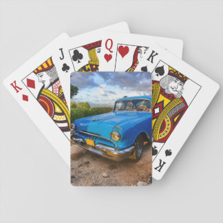 Old American classic car in Trinidad, Cuba Deck Of Cards