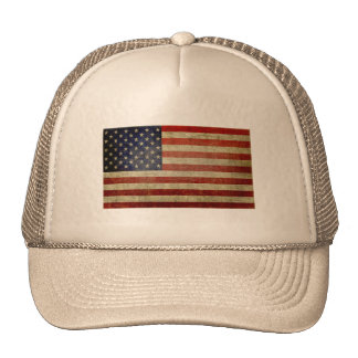Old American Flag Mesh Hat