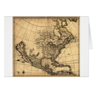 Old American Map Card