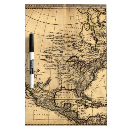 Old American Map Dry Erase Whiteboard