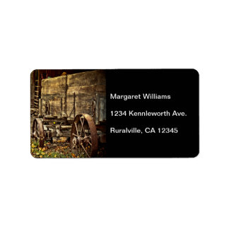 Old Amish Wagon Label