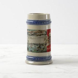 Old Amsterdam Sail Ships Drinking Stein Coffee Mug
