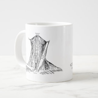 Old Anatomy Illustration Muscles Of The Neck Giant Coffee Mug