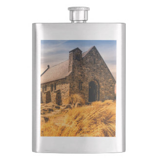 Old Ancient Church on the Plains Flask