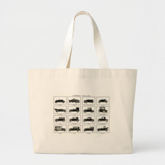 Old and classic car (retro auto): Vintage Cars Large Tote Bag